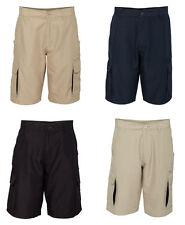 Burnside - Microfiber Shorts, Cargo pockets, Mens sizes, 100% polyester (B9803)