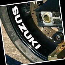 Suzuki GLOSS WHITE 8.25in 21cm decals 1000 stickers 1100 gsxr 250 400 rm 600 750