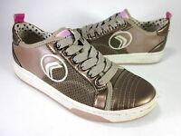 GEOX KID'S IVORY 2 FASHION SNEAKERS BROWN LEATHER EUR SIZE 35/US SIZE 3.5 MEDIUM