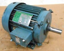 LINCOLN 5 HP AC MOTOR, 230/460 VOLTS, 1740 RPM, 3 PH, 60HZ, 13.6/6.8 AMPS
