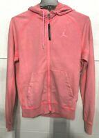 NIKE Air Jordan Wings Men's SZ M Fleece Wash Full Zip Hoodie cd4551 Bright Pink
