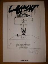 Moebius Ex-Libris Signé MOEBIUS Dessin inédit Angouleme A.M.B.D 5 ans Top XL N&B