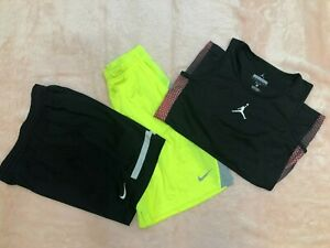 3 piece NIKE / JORDAN SHORTS AND TOP YOUTH BOYS CLOTHES SIZE LARGE