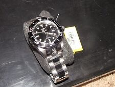 NEW NWT *INVICTA* Men's Grand Diver Stainless Steel/Black Watch 3044