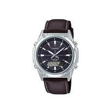 Casio AMWs820L-1A Men's Tough Solar Watch Digital Analog BLACK Resin Band NEW
