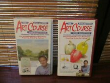 Art Course Step by Step Video Collection VHS Tapes Vol 1 & 4
