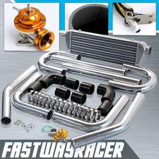 2.5'' Aluminum FMIC Intercooler Piping Kit + Gold Type RS Turbo Blow Off Bov JDM
