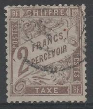 """FRANCE STAMP TIMBRE TAXE N° 26 """" TYPE DUVAL 2F MARRON """" OBLITERE TTB N326"""