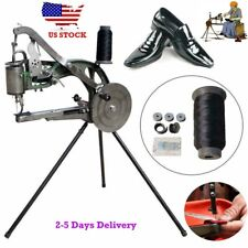 Hand Cobbler Shoe Repair Sewing Machine Dual Leather Cloth Cotton Nylon Thread