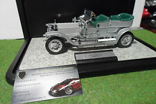 ROLLS ROYCE SILVER GHOST 1907 + vitrine 1/24 FRANKLIN MINT voiture miniature
