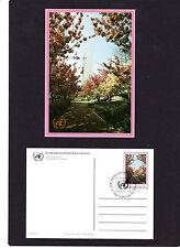 """UNO New York Ganzsache """" P 10 Kirschblüte """" Ersttagsstempel, aus ABO-Lieferung"""
