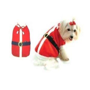 High Quality Dog Costume SUMMER SANTA Dress Dogs Chirstmas Holiday saint Nick