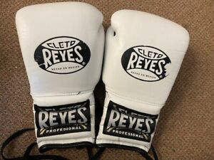 Cleto Reyes WHITE leather 12oz sparring gloves