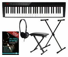 Digital 61 Tasten Akku Keyboard Stage Piano USB Bluetooth MIDI 128 Sounds Tasche