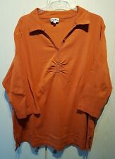 Damen Kragen Shirt Orange - MyLine - Größe 48/50