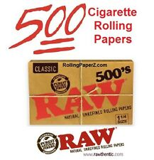 RAW 500's 1 1/4 Size Natural Cigarette Rolling Papers - 500 LEAVES IN EACH PACK