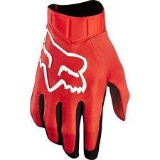 Gants rouges Fox pour motocyclette