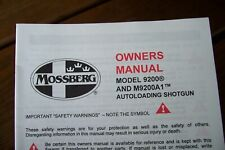 Mossberg 9200 Factory Owners Instructions Manual ORIGINAL