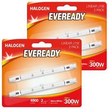 4 x Eveready LINEAR 118mm R7s ECO 4900 Lumens Halogen Bulb J118 240V ( 300 Watt)