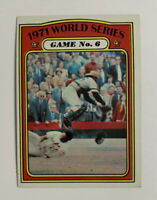 1972 Topps 1971 World Series Game No. 6 # 228 Baseball Card Baltimore Orioles