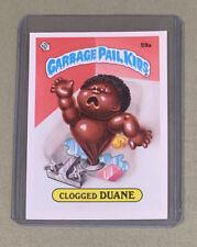 1985 Garbage Pail Kids OS2 59a Clogged Duane