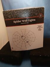 Spider Web Halloween Decorations Indoor OUTDOOR..70 LIGHTS WITH SPIDERS