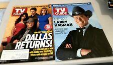 TV Guides~ LARRY HAGMAN~ Dallas Returns~Look Brand New