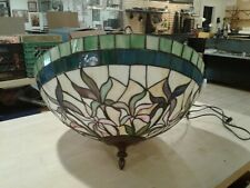 """Tiffany Style Hanging Stained Glass Ceiling Pendant Light Lamp 21"""" Shade"""