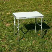 Aluminium Portable Height Adjustable Folding Table Camping Outdoor Picnic Party