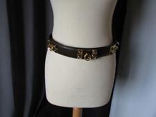 ceinture vintage cuir marron 80