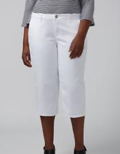 LANE BRYANT Size 14 capri pants crop white pedal pushers plus pockets $49.95 NWT
