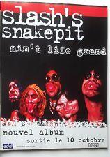 Publicité advert album concert advertising SLASH'S SNAKEPIT 2000 Lp ain't life..