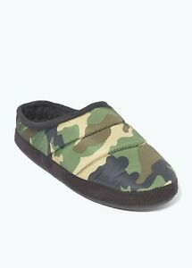Kids Boys Padded Camo Mule Slippers (Younger 10-Older 6)
