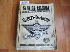 1991 1992 Harley-Davidson Flt / Fxr Model Service Manual