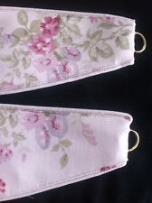 "DORMA  ELSIE 1pr Tie-Backs 26"" Piped top and Bottom in Cream NEW Lined"