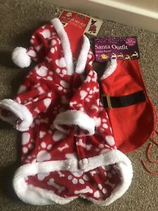 Two New Dog's Christmas Xmas Outfits In Size Small