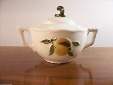 Stangl Pottery Apple Delight Pattern Off White Covered Sugar Bowl - EUC!