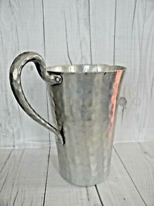 Vintage Hand Forged Hammered Pitcher Everlast Metal Hammered Aluminum 8 inches