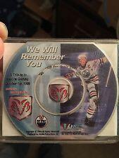 Wayne Gretzky Edmonton Oilers We Will Remember You CD - Retirement Night