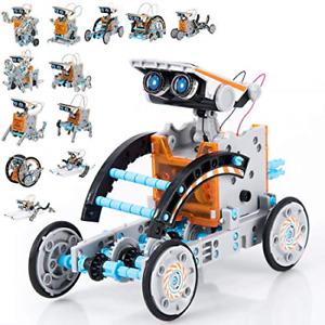 GARUNK Solar Robot Kit for Kids, 12 in 1 Educational STEM Science Toy, Solar Kit