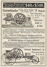 W3003 Associated Manufacture's Co. - Motores Modernos de Gasolina - Pubblicità