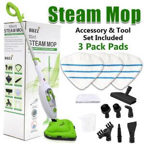 Steam Mop 3 Pack Pads 1500W Hot Cleaner Floor Carpet Window Washer Hand Steamer