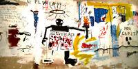 "Jean Michel Basquiat Print on Canvas Abstract wall art decor Per Capita 24x48"""