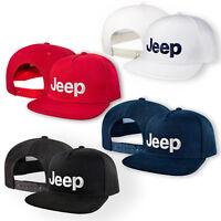 d63904f5209 JEEP 5 Panel Baseball Cap Embroidered Auto Logo Snapback Mens Womens  Hip-Hop Hat