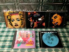 Lot Of 5 Popular 80'S Music Hits Cds Various Artists Madonna / New Wave / R.E.M.