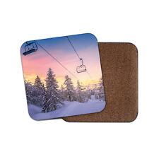 Seggiovia Bevande Sottobicchieri-Sci Snowboard ALBERI Schneeberg regalo divertente #8497