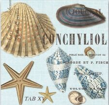 MDW-Two (2) Paper Cocktail Napkins for Paper Crafts, Seashells, Nautical