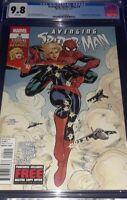 Avenging Spider-Man 9 MARVEL 2012 CGC 9.8 NM 🔥🔥🔥🗝 1st app Captain Marvel 🗝