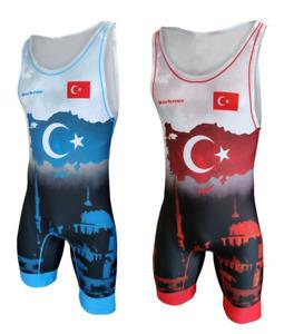 Tuta da wrestling BERKNER Turkey  Wrestling Suit Trikot Singlet Ringertrikot