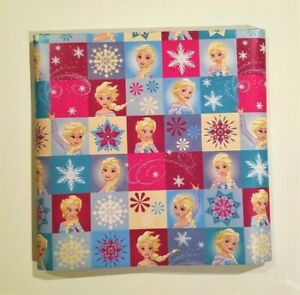 Disney Frozen Wrapping Paper Gift Wrap Elsa Snow Queen Christmas Holiday